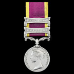 Second China Medal 1856-1860, 2 Clasps: Taku Forts 1860, Pekin 1860, officially impressed naming,...