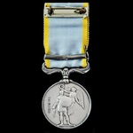 Crimea Medal 1854-1856, 1 Clasp: Sebastopol, officially impressed naming, awarded to Private Will...