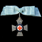 Germany - Imperial States - Bavaria: Merit Cross for Nursing 1870-1871, a silver cross rimmed in ...