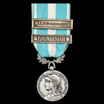 France - Colonial Medal, 1914-62, second type, 30mm, two clasps 'Tunisie' and 'Maroc 1925-1926'