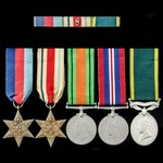 Second World War North Africa 8th Army and Efficiency Medal group awarded to Trooper A.J. Sheppar...