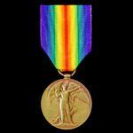 Victory Medal awarded to Private W.J. Bradford, Northamptonshire Regiment, and Somerset Light Inf...
