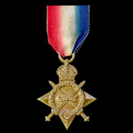 1914-1915 Star, awarded to Private D. Scahill, North Staffordshire Regiment, later a Gunner with ...