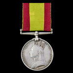 Afghanistan Medal 1878-1880, no clasp, awarded to Private W. Stevens, 6th Dragoon Guards, who saw...