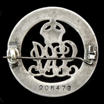 Silver War Badge, reverse numbered: '208473' awarded to Pioneer W. Babey, Depot Labour Battalions...