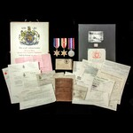 ​  A most complete and hence scarce Second World War Tunisia 8th Army Casualty group awarded to P...