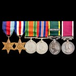Second World War North West Europe Territorial and Regular Army double long service group awarded...