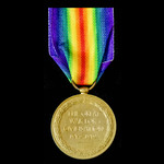 Victory Medal, awarded to Private H.C. Burchall, Army Service Corps, who served in a Mechanical T...