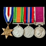 Second World War North West Europe and long service group awarded to Warrant Officer 1st Class C....