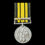   An East and West Africa Medal 1887-1900, 1 Clasp: 1897-98, awarded to Private  J. Brown, 2nd B...