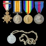 Great War 1914 Star trio and India Delhi Durbar 1911 group awarded to Gunner F.G. Brown, Royal Fi...