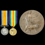 South African Forces Great War Battle of the Somme Delville Wood Casualty pair and memorial plaqu...