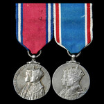 Jubilee 1935 and Coronation 1937 pair mounted as worn.