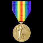 A Victory Medal awarded to Corporal F.C. Payne, Suffolk Regiment, later 2nd City of London Battal...