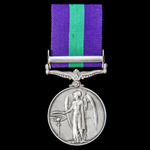 General Service Medal 1918-1962, GVI 1st type bust, 1 Clasp: Palestine, awarded to Gunner G.E. Bu...