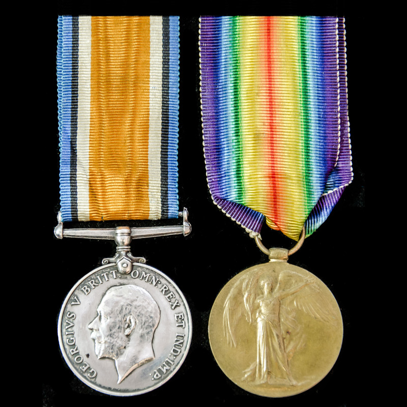 A Great War pair awarded to P. | London Medal Company