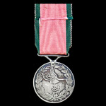 Turkish Crimea Medal 1855, British issue, unnamed as issued, fitted with a modified straight bar ...