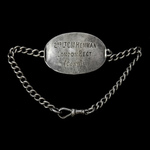 Great War Officer's Silver Identity Disc, hallmarks for Birmingham with date letter 's' for 1917,...