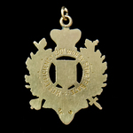 A London Rifle Brigade 'H' Company Efficiency Medal in gold, awarded in 1901 to Sergeant F. Bate...