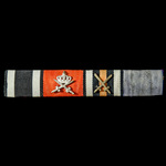 Germany - Imperial: Tunic medal ribbon bar for a recipient of four awards, including the Iron Cro...