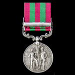 India General Service Medal 1895-1902, 1 Clasp: Punjab Frontier 1897-98, awarded to Private J. Mo...