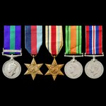Palestine Arab Rebellion and Second World War North Africa operations group awarded to Rifleman J...