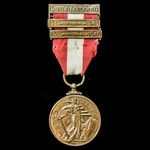 ​  Ireland - Republic of: Emergency Service Medal 1939-1946, with Air Raid Protection 'Na Seirbhi...