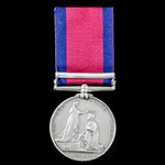 Military General Service Medal 1793-1814, 1 Clasp: Toulouse, awarded to Private David Bowling, 3r...