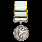 Crimea Medal 1854-1856, 2 Clasps: Sebastopol, Azoff, second clasp riveted as issued subsequent to...
