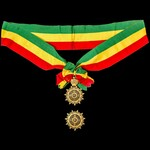Ethiopia: Imperial Order of the Star of Ethiopia, Grand Officers sash badge and breast star set i...