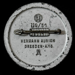Germany – Third Reich: Tinnie Badge for the Reichspartei Tag 1939, bearing makers marks on revers...