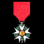 France – Order of the Legion d'Honneur, Knight, Second Republic, with large head, in silver gilt ...
