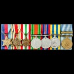 Second World War North Africa and Italy, and Korean War group awarded to Fusilier L. Colebourne, ...