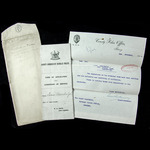 Original County Borough of Burnley Police Form of Application with Conditions of Service, as issu...