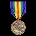 Victory Medal, awarded to Private G. Bennett, Army Service Corps, who served as a member of the 6...