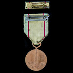 Republic of South Korea: Korean War Service Medal 1950-1953, mounted for wear, together with ribb...