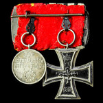 Germany - Empire and Baden: Pair of awards comprising: Iron Cross 1914 2nd Class, ring stamped: '...