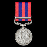 India General Service Medal 1854-1895, 1 Clasp: Perak, awarded to Private W. Gregory, 1st Battali...