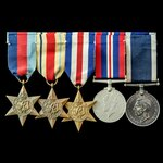 Second World War Combined Operations Signallers long service group awarded to Marine G.E. Wilding...