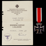 Germany – Third Reich: The Orel Iron Cross 2nd Class, Infantry Assault Badge in Silver and subseq...