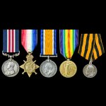 A rare Great War Battle of the Somme Military Medal and Imperial Russian Saint George Medal for B...