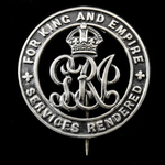 Silver War Badge, reverse numbered; 'B4352' awarded to Pioneer Edward Stafford, Road Troops Depot...