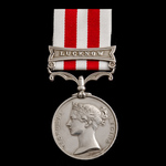 Indian Mutiny Medal 1857-1859, 1 Clasp: Lucknow, awarded to Able Seaman George Pullen, Royal Navy...