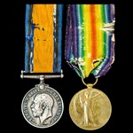 Great War pair awarded to Private J.E. Swain, The Queen's Regiment, later Labour Corps and East K...