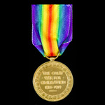 Victory Medal awarded to Private A.E. Brook Royal Warwickshire Regiment.
