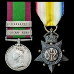 Second Afghanistan War Lord Robert's March from Kabul to Kandahar pair awarded to Private James R...