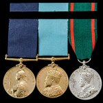 A very fine Visit to Ireland 1900, 1903 and 1911 trio awarded to Constable John Walsh, Royal Iris...