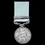 The Rare Army of India Medal 1793-1826, short hyphen reverse, 1 Clasp: Nagpore, naming engraved i...