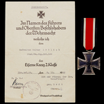 Germany - Third Reich: An Operation Uranus Iron Cross 2nd Class and Silver Wound Badge document g...