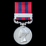 India General Service Medal 1854-1895, 1 Clasp: Umbeyla, awarded to Private William Jackson, 1st ...